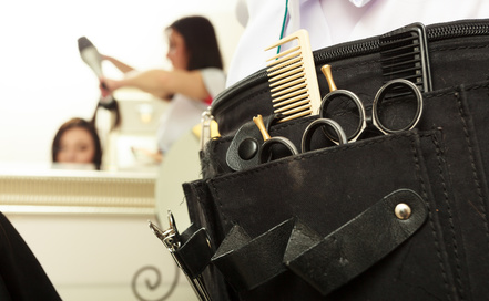 equipment tools accessories hairdresser in hair salon
